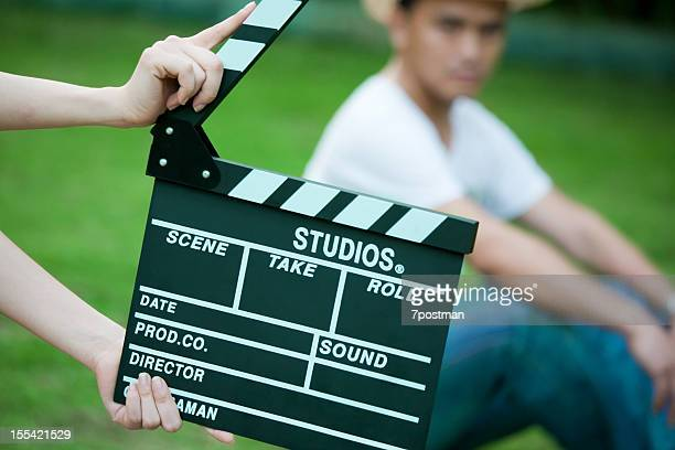 clapper board in action