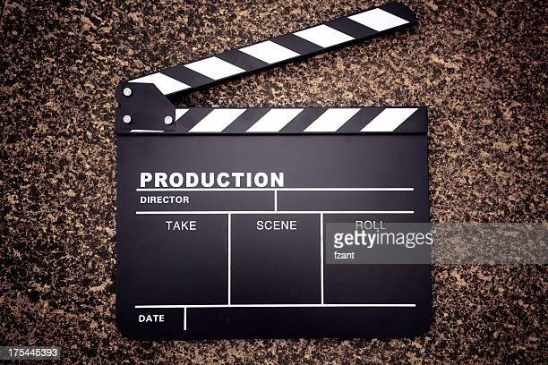 clapper board - clapboard stock pictures, royalty-free photos & images