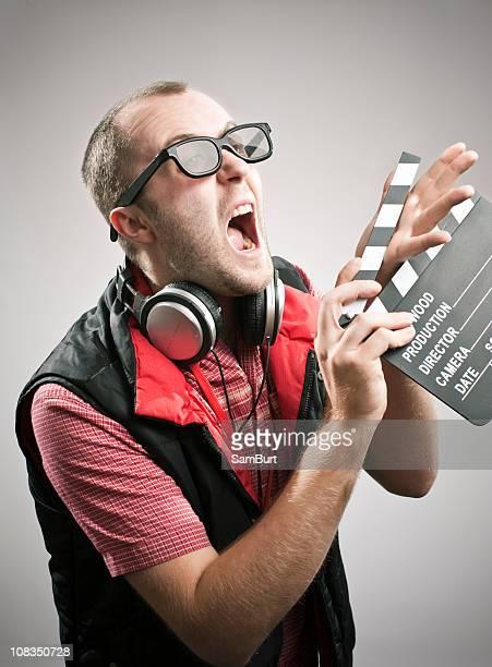 clapperboard ギィ - 映画監督 ストックフォトと画像
