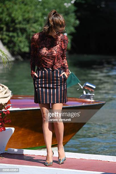 Clara Alonso arrives at Lido during the 73rd Venice Film Festival on September 6 2016 in Venice Italy