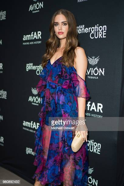 Clara Alonso attends amfAR GenCure Solstice 2018 at SECOND on June 21 2018 in New York City
