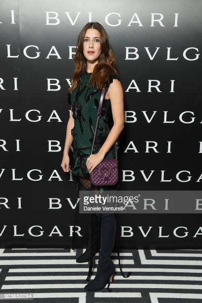 Clara Alonso attends Bulgari FW 2018 Dinner Party on February 23 2018 in Milan Italy
