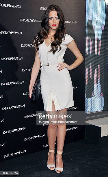 Clara Alonso attends Emporio Armani boutique opening on April 8 2013 in Madrid Spain