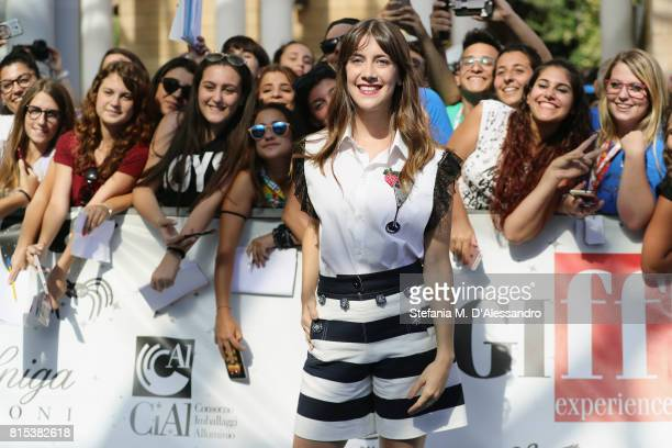 Clara Alonso attends Giffoni Film Festival 2017 Day 3 Blue Carpet on July 16 2017 in Giffoni Valle Piana Italy