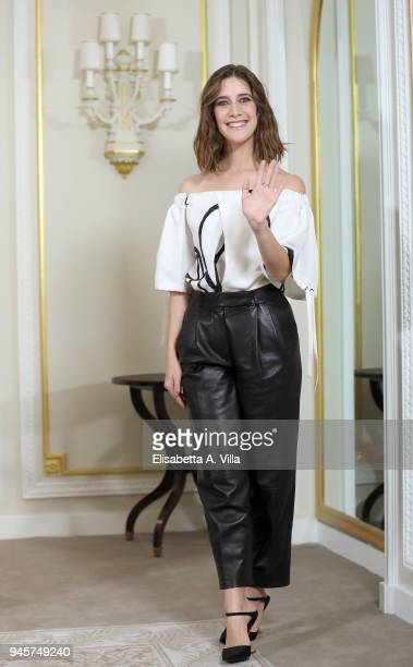 Clara Alonso attends 'Il Tuttofare' photocall at St Regis Hotel on April 13 2018 in Rome Italy