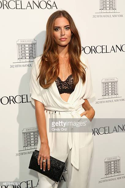 Clara Alonso attends Madison Square Park Conservancy's Fall Fundraising Gala in partnership with the grand opening of Porcelanosa's flagship Showroom...