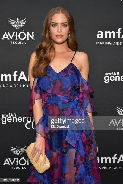 Clara Alonso attends the amfAR GenCure Solstice 2018 on June 21 2018 in New York City