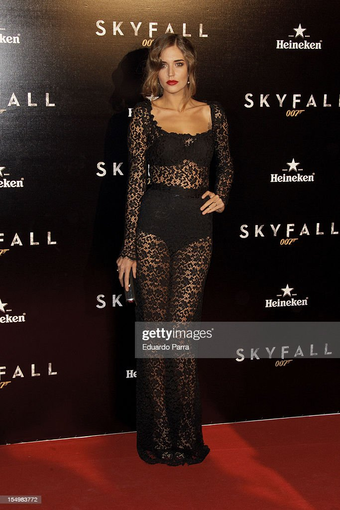 Clara Alonso attends the 'Skyfall' photocall premiere at Santa Ana Square on October 29, 2012 in Madrid, Spain.
