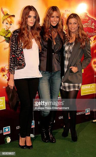 Clara Alonso Estefania Luick and Carla Goyanes attend the premiere of 'Campanilla Y El Tesoro Perdido' on November 20 2009 in Madrid Spain
