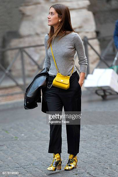 Clara Alonso is seen on December 5 2016 in Rome Italy