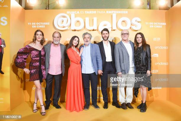 Clara Alonso Ramon Barea Ana Fernandez Carlos Iglesias Santiago Requejo Roberto Alvarez and Eva Santolaria attend Abuelos premiere on October 09 2019...