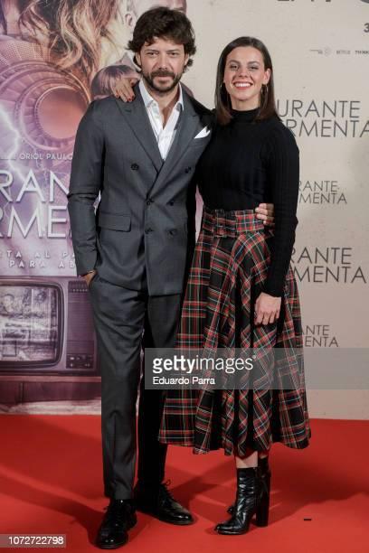 Clara Alvarado and Alvaro Morte attend the 'Durante la tormenta' photocall at Suecia hotel on November 26 2018 in Madrid Spain