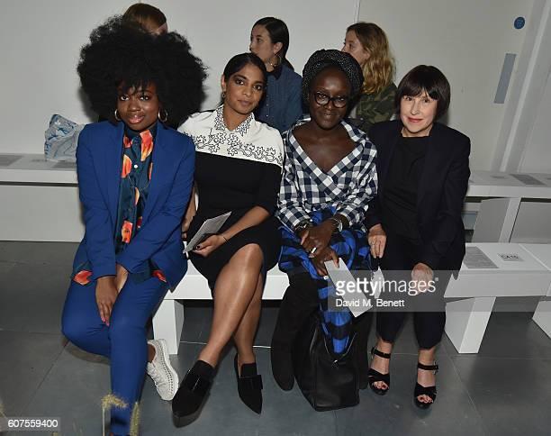 Clara Amfo Amara Karan Lynette Yiadom Boakye and Alice Rawsthorne attend the Paul Smith Spring Summer 2017 Womenswear show on September 18 2016 in...