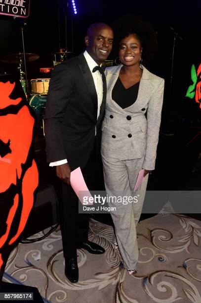 Clara Amfo and Trevor Nelson attend the Amy Winehouse Foundation Gala at The Dorchester on October 5 2017 in London England