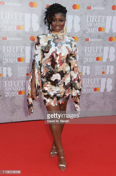 Clara Amfo arrives at The BRIT Awards 2019 held at The O2 Arena on February 20 2019 in London England