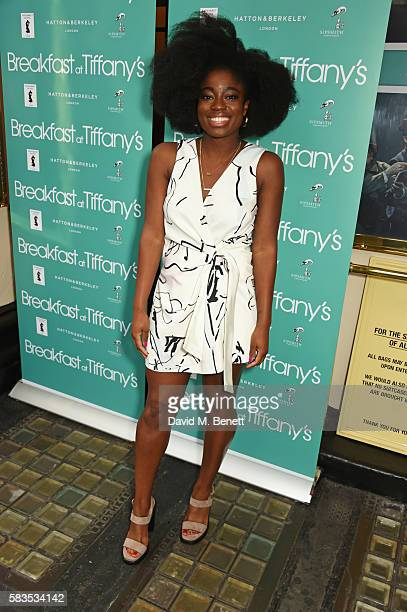 Clara Amfo arrives at the press night performance of 'Breakfast at Tiffany's' at the Theatre Royal Haymarket on July 26 2016 in London England