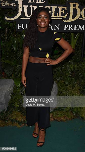 Clara Amfo arrives for the European Premiere of 'The Jungle Book' at BFI IMAX on April 13 2016 in London England