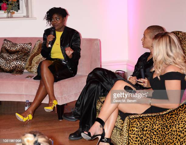 Clara Amfo attends Adwoa Aboah's Gurls Talk website launch party at Somerset House on October 12 2018 in London England