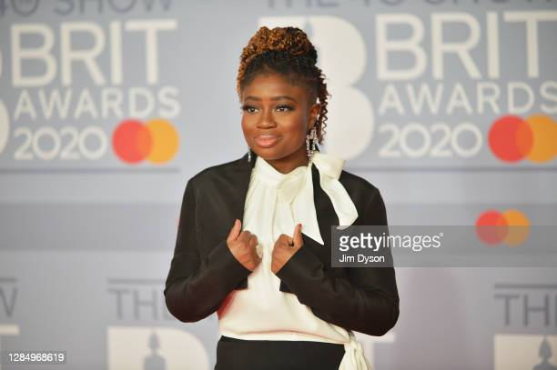 Clara Amfo attends The BRIT Awards 2020 at The O2 Arena on February 18, 2020 in London, England.
