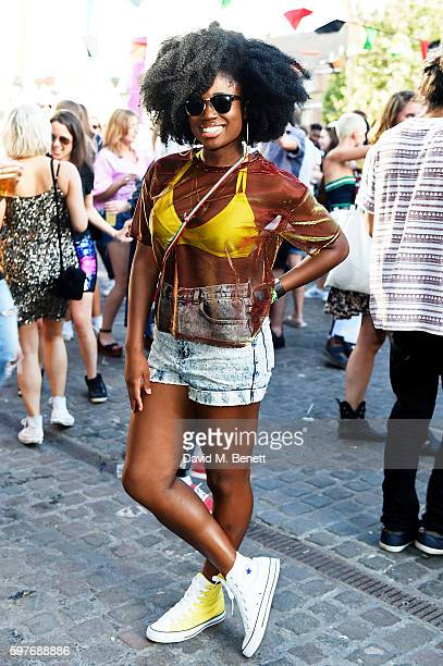 Clara Amfo attends the Converse party at Notting Hill Carnival to celebrate the new carnival inspired Converse Custom Chuck Taylor All Stars designed...