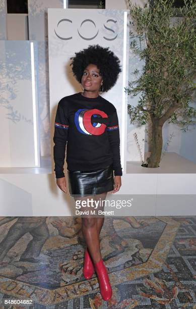 Clara Amfo attends the COS 10 year anniversary party at The National Gallery on September 17 2017 in London England
