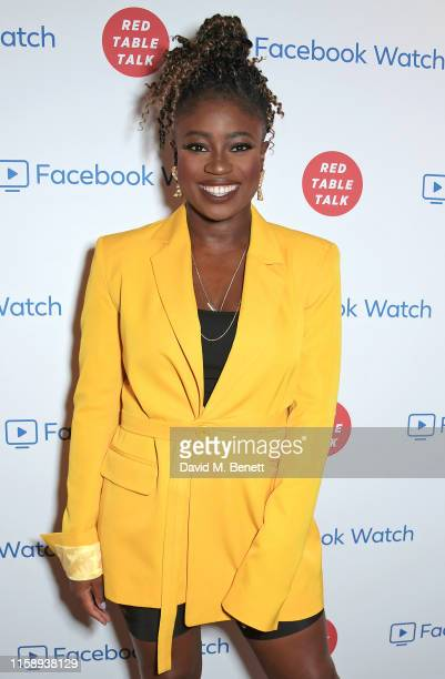 Clara Amfo attends the Facebook Watch: Red Table Talk screening, hosted by Jada Pinkett Smith, at The Ham Yard Hotel on August 1, 2019 in London,...