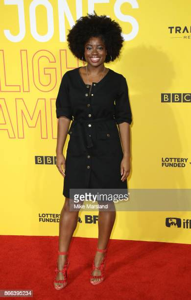 Clara Amfo attends the 'Grace Jones Bloodlight And Bami' UK premiere at BFI Southbank on October 25 2017 in London England