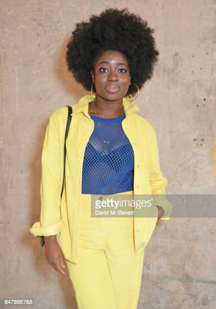 Clara Amfo attends the Henry Holland SS18 catwalk show during London Fashion Week September 2017 at TopShop Show Space on September 16 2017 in London...