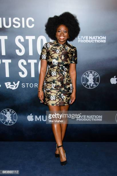 Clara Amfo attends the London Screening of 'Can't Stop Won't Stop A Bad Boy Story' at The Curzon Mayfair on May 16 2017 in London England