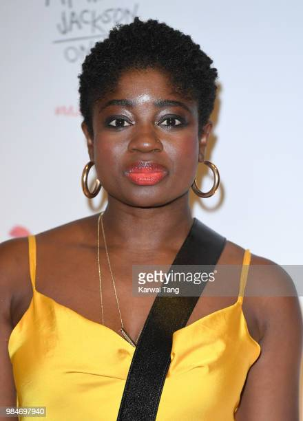Clara Amfo attends the 'Michael Jackson On The Wall' Private View sponsored by HUGO BOSS at the at National Portrait Gallery on June 26 2018 in...