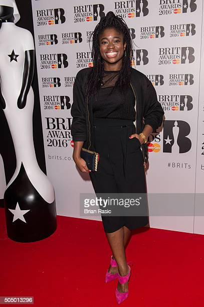 ONLY] Clara Amfo attends the nominations launch for The Brit Awards 2016 at ITV Studios on January 14 2016 in London England