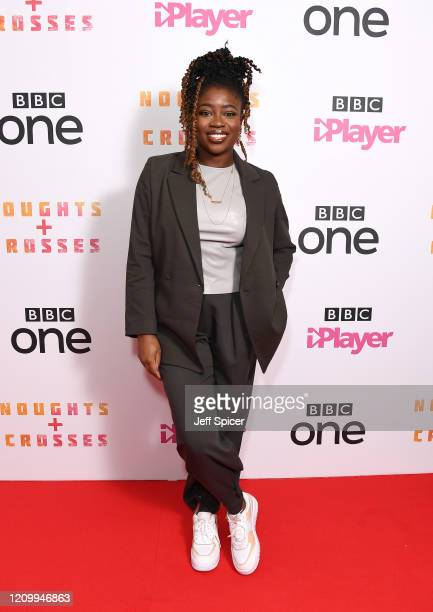 "Clara Amfo attends the ""Noughts and Crosses"" UK Premiere at the Ritzy Picturehouse on March 02, 2020 in London, England."