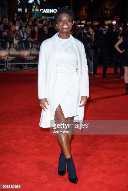 Clara Amfo attends the UK fan screening of 'Maze Runner The Death Cure' at Vue West End on January 22 2018 in London England