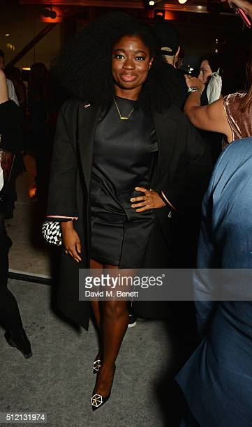 Clara Amfo attends the Universal Music BRIT Awards AfterParty 2016 in collaboration with Soho House and BACARDI on February 24 2016 in London England