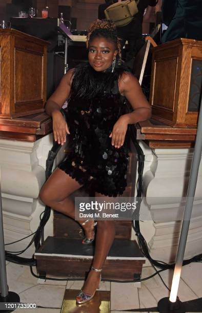 Clara Amfo attends the Universal Music BRIT Awards afterparty 2020 hosted by Soho House PATRON at The Ned on February 18 2020 in London England