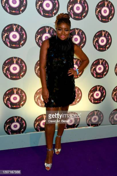Clara Amfo attends the Universal Music BRIT Awards afterparty 2020 hosted by Soho House PATRÓN at The Ned on February 18 2020 in London England