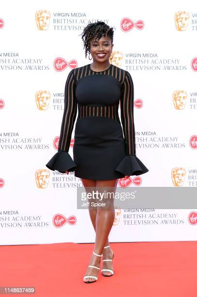 Clara Amfo attends the Virgin Media British Academy Television Awards 2019 at The Royal Festival Hall on May 12 2019 in London England