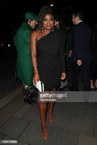 Clara Amfo attends the Vogue x Tiffany Fashion Film after party for the EE British Academy Film Awards 2020 at Annabel's on February 02 2020 in...