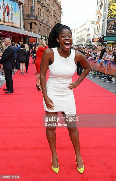 Clara Amfo attends the World Premiere of 'The Inbetweeners 2' at Vue West End on August 5 2014 in London England