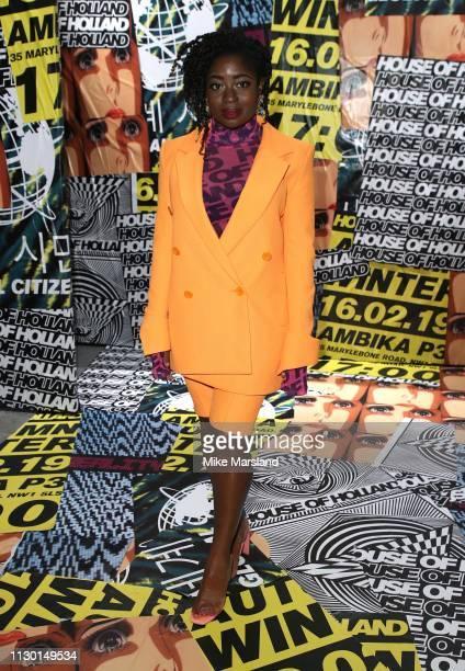 Clara Amfo during London Fashion Week February 2019 on February 16 2019 in London England
