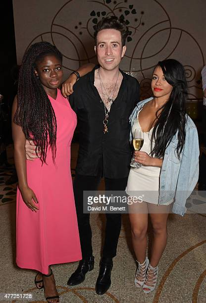 Clara Amfo Nick Grimshaw and Melissa Steel attends the GQ London Collections Men closing party hosted by Dylan Jones at Massimo Restaurant Oyster Bar...