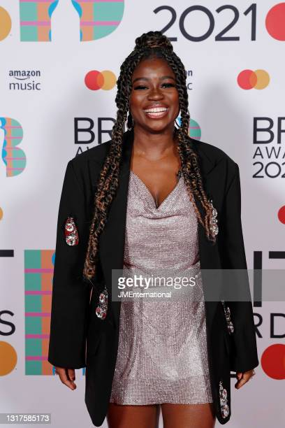 Clara Amfo poses in the media room during The BRIT Awards 2021 at The O2 Arena on May 11, 2021 in London, England.