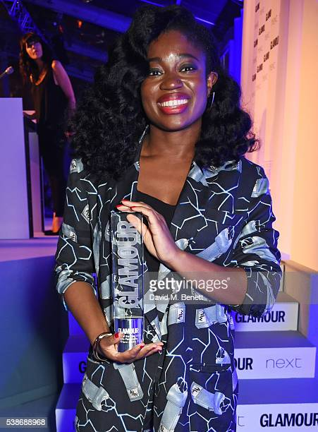 Clara Amfo winner of the Radio Personality award attends the Glamour Women Of The Year Awards in Berkeley Square Gardens on June 7 2016 in London...