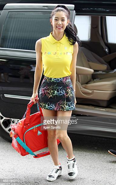 Clara attends the Le Coq Night Golf Festival at Taekwang country club on August 1 2014 in Gyeonggido South Korea