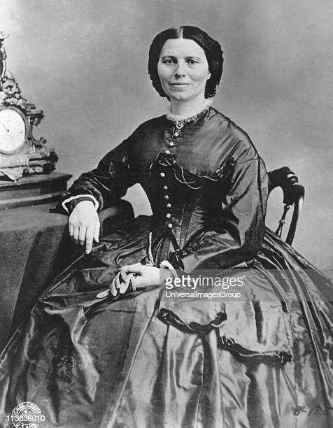 Clara Barton founder of the American branch of the Red Cross and its first president Photograph