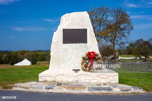clara barton monument in antietam national battlefield - clara barton stock pictures, royalty-free photos & images