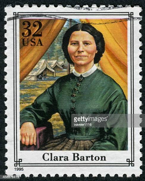 clara barton stamp - clara barton stock pictures, royalty-free photos & images
