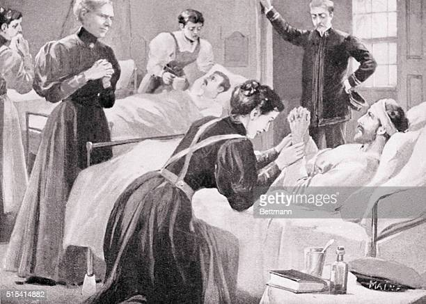 Supervising nurses at Havana After the explosion of the Maine 1898