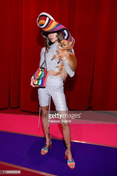 Clara Berry attends Loubhoutan Express presentation at La Garde Republicaine on July 02 2019 in Paris France