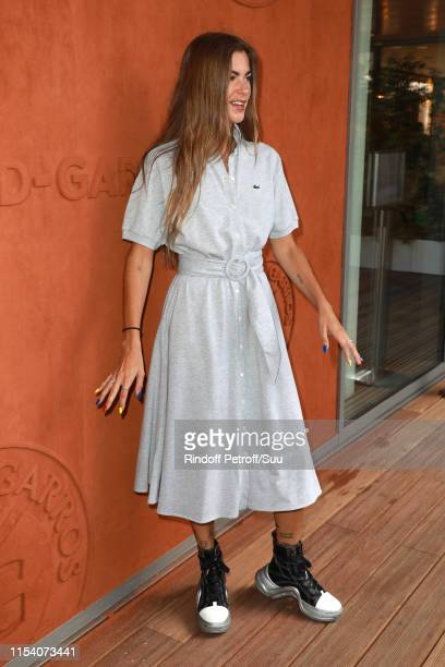 Clara Berry attends the 2019 French Tennis Open Day Twelve at Roland Garros on June 06 2019 in Paris France